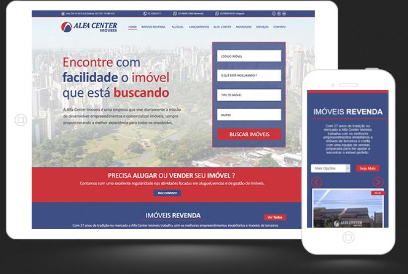 websites - Criação Site Alfa Center Imóveis