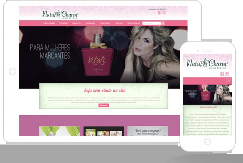 websites - Criação do site e Loja Virtual da NatuCharm