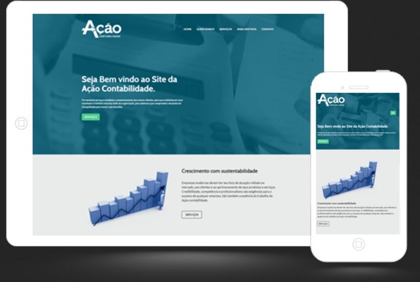 websites - Criação site Ação Contabilidade