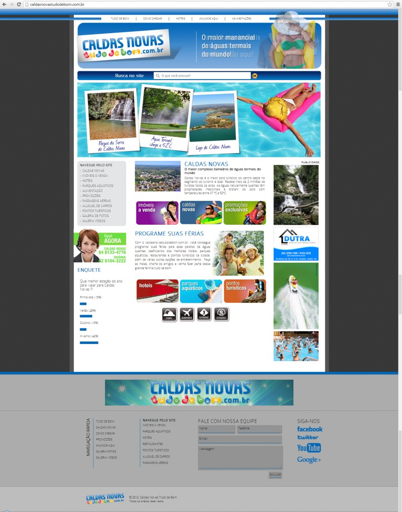 websites - Site Caldas Novas Tudo de Bom