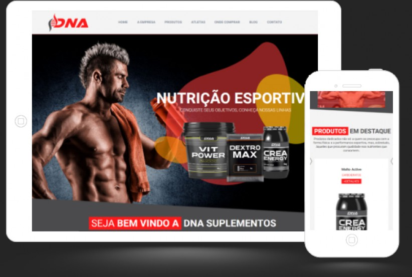 websites - Criação do site da DNA Suplementos