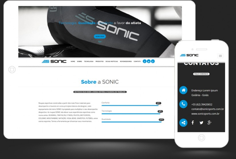 websites - Criação do site da Sonic Sports