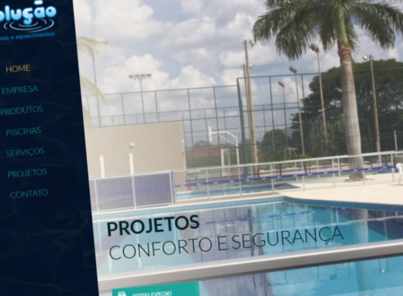 websites - Criação do site Solução Piscinas