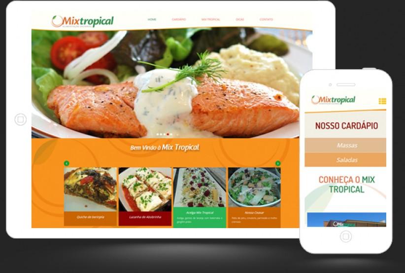 websites - Site Mix Tropical Restaurante