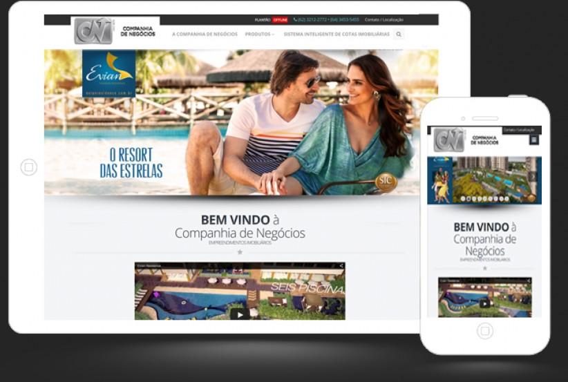 websites - Criação do site da Companhia de Negócios