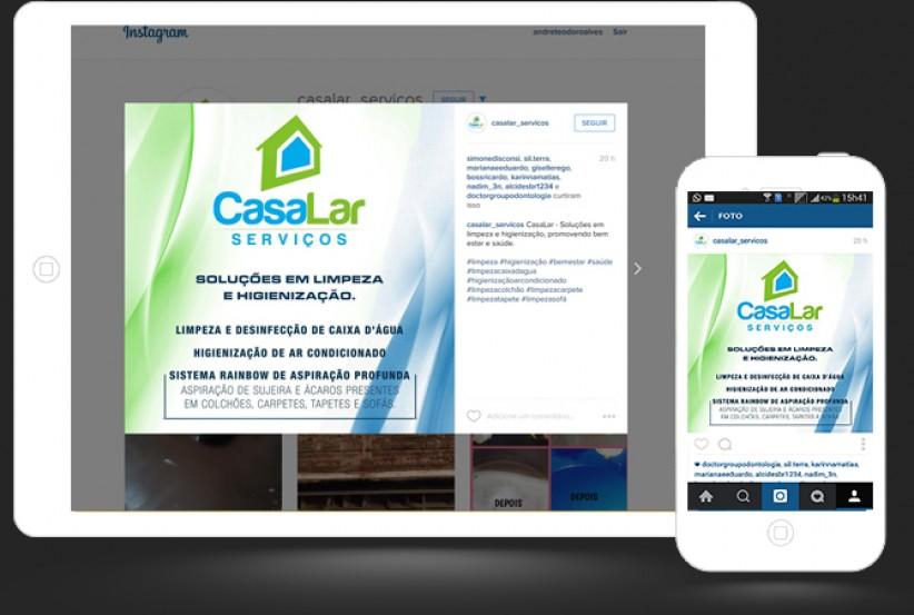 marketing digital - Gerenciamento Conteúdo Instagram Casa Lar