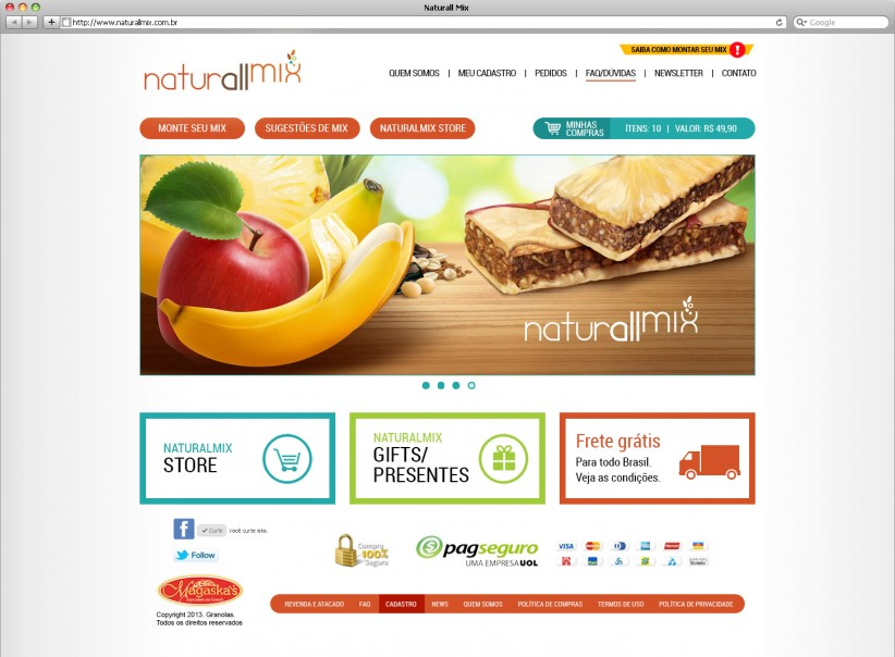 websites - Layout NaturallMix