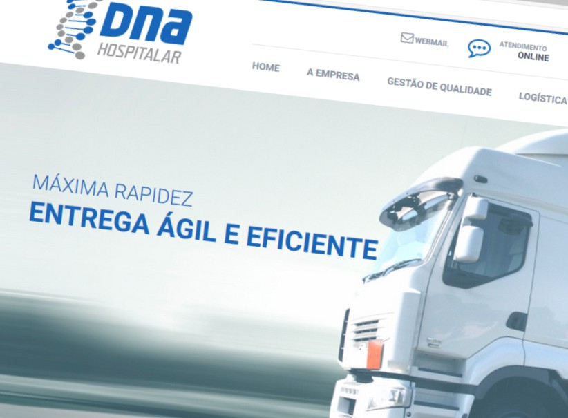websites - Criação do site da DNA Hospitalar