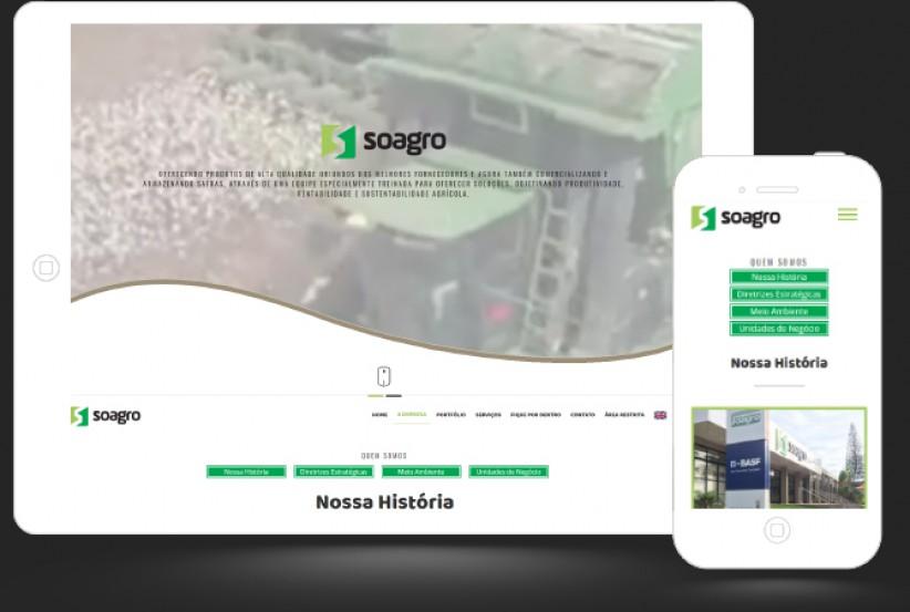 websites - Criação site Soagro
