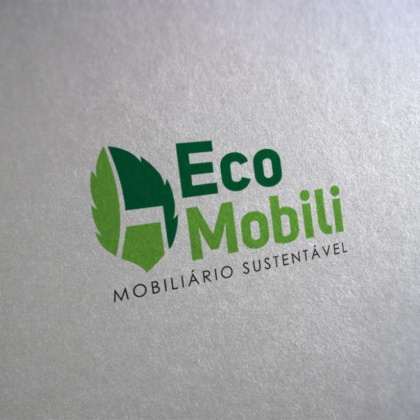 logotipos - Logotipo Eco Mobili Mobiliário Reciclado