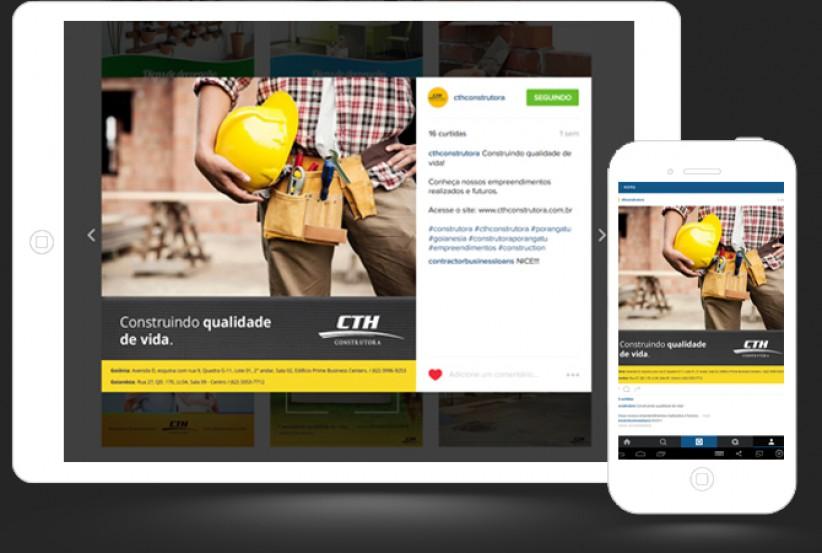 marketing digital - Instagram CTH Construtora