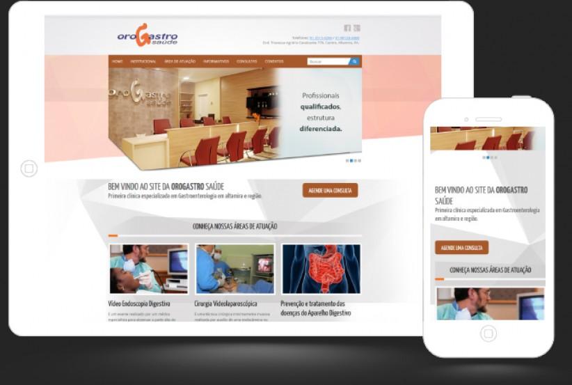 websites - Criação do site da Orogastro Saúde