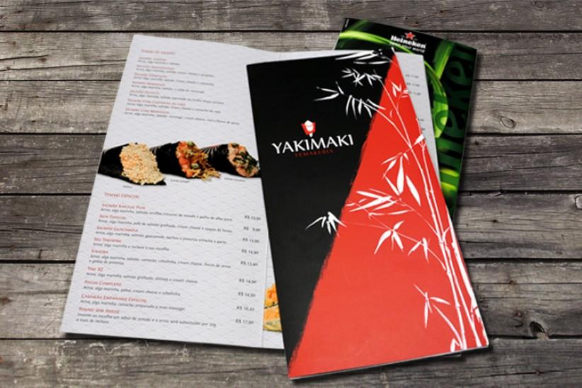 impressos - Cardápio Yakimaki