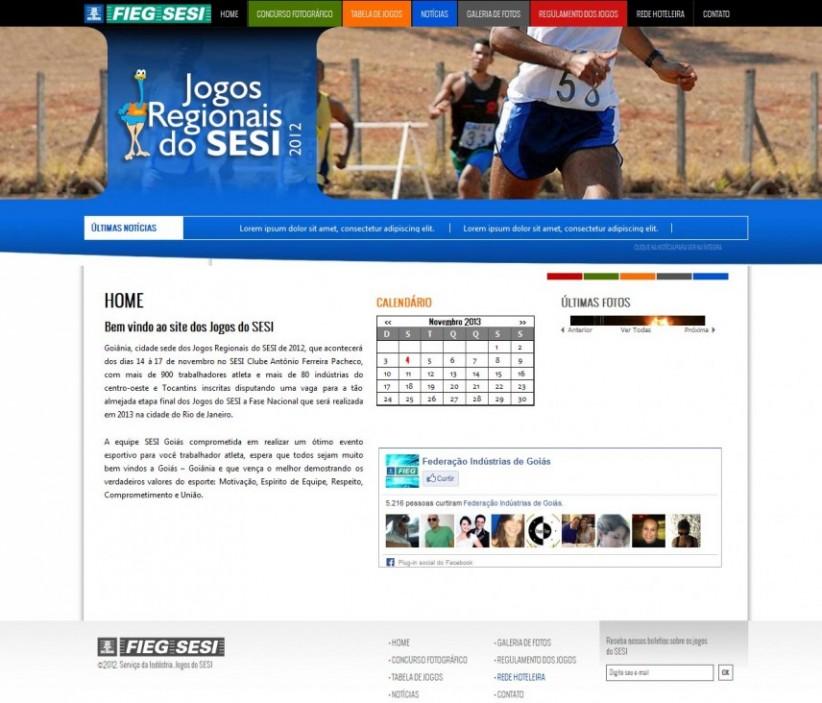 websites - Site Jogos do Sesi