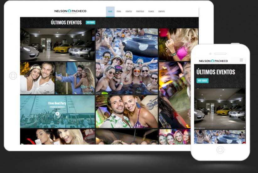 websites - Criação do site Nelson Pacheco Photos