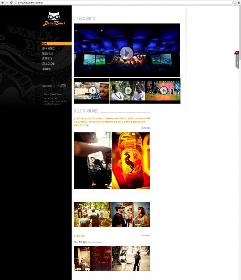 websites - Site Benzadeus filmes