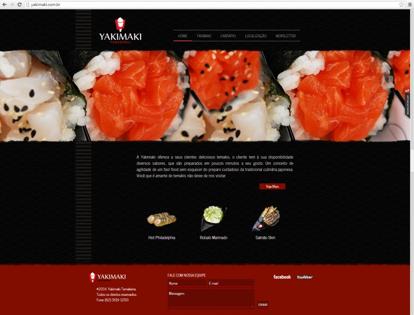 websites - Site Yakimaki Temakeria