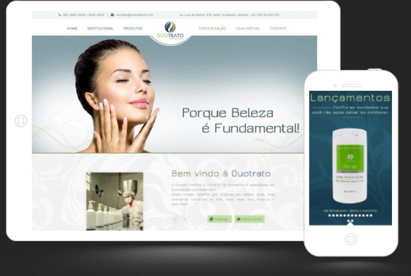 websites - Criação site DUOTRATO COSMÉTICOS