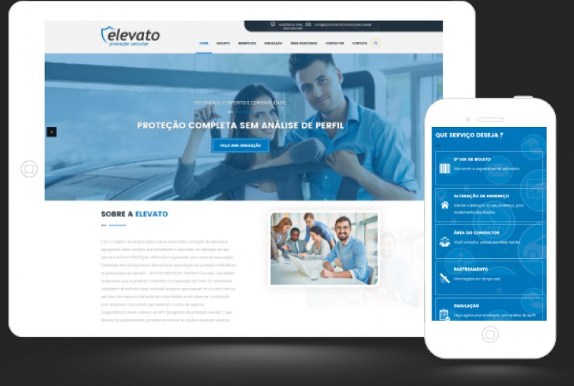 websites - Criação de site Elevato Proteção Veícular