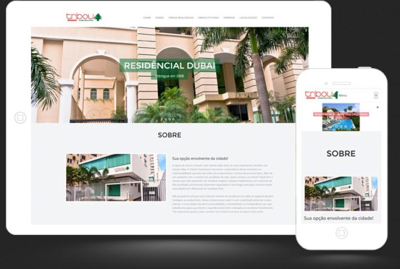 websites - Criação do site Tripoli Construtora