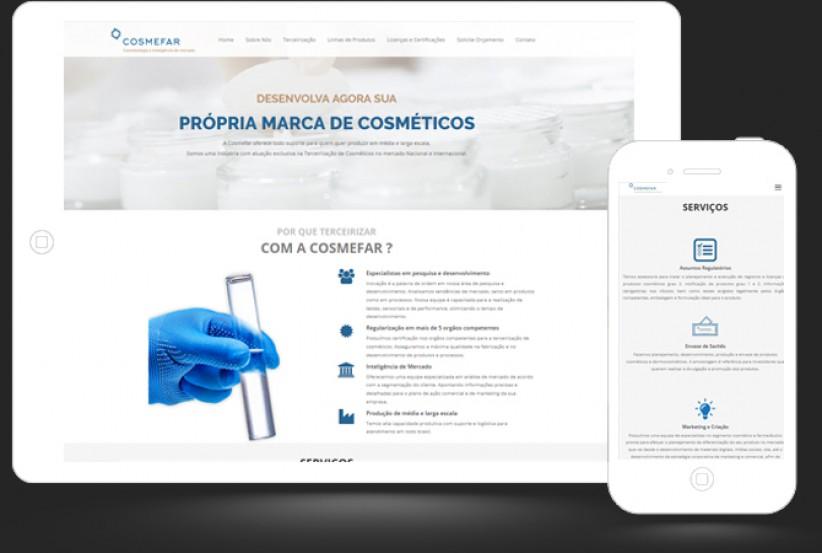 websites - Criação Site Cosmefar