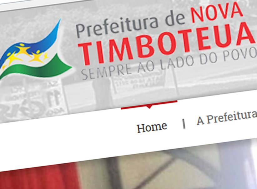 websites - Criação site Prefeitura Nova Timbotêua