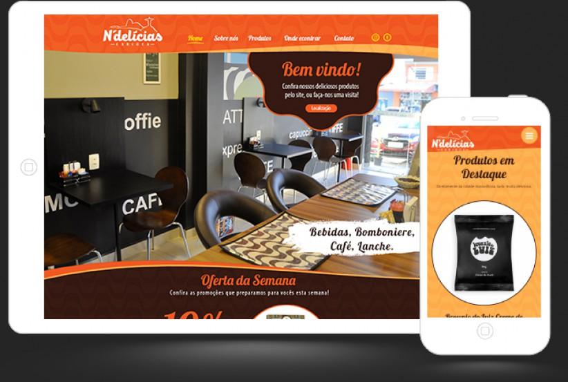 websites - Criação site N'Delícias Carioca